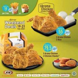 Promo A&W Awesome Weekend Deals 19-21 Februari 2021, Mulai Rp 18 Ribuan, Ada Ayam, Nasi, Kentang