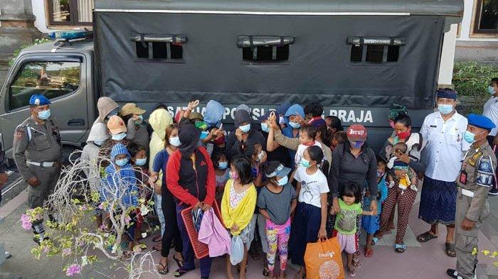 Gepeng, Pengamen dan Pedagang Acung yang Terjaring di Badung Dipulangkan ke Daerah Asal