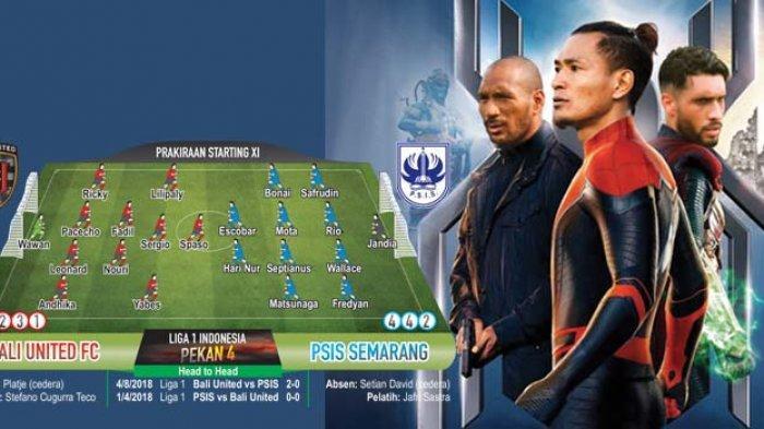 Bali United Day! Jamu PSIS Semarang Sore Ini, Bali United Turunkan The Winning Team