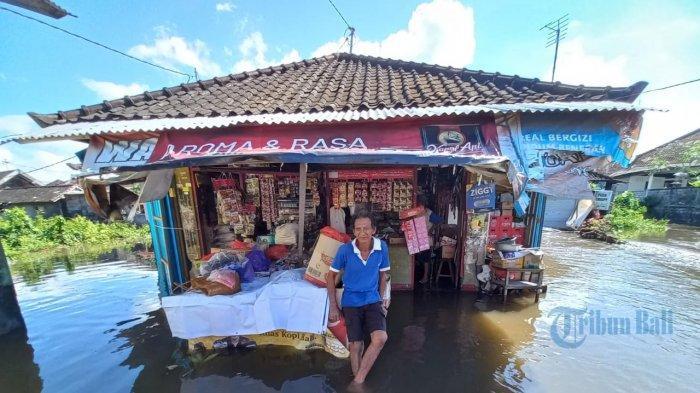UPDATE: Banjir Rendam Puluhan Rumah di Desa Kusamba Klungkung, Akibat Pendangkalan Sungai