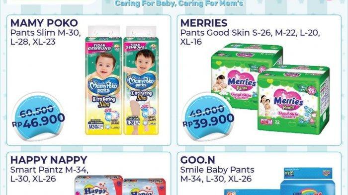 BARU, Promo Alfamart 10-15 Juni 2021, Diapers Merries 39.900, Mamy Poko 46.900, Beli 1 Gratis 1