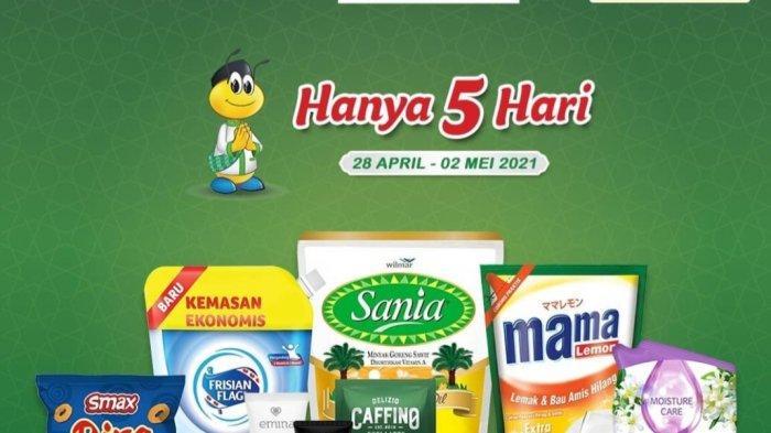 BARU, Promo Indomaret 28 April - 2 Mei, Hampres 69.000, Sirup 3.900, Beras 54.900, Khong Guan 38.900