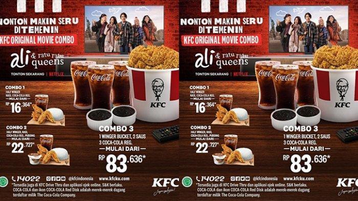 BARU, Promo KFC 21 Juni 2021, KFC Original Movie Combo mulai Rp16 ribuan, Nonton Jadi Makin Seru!