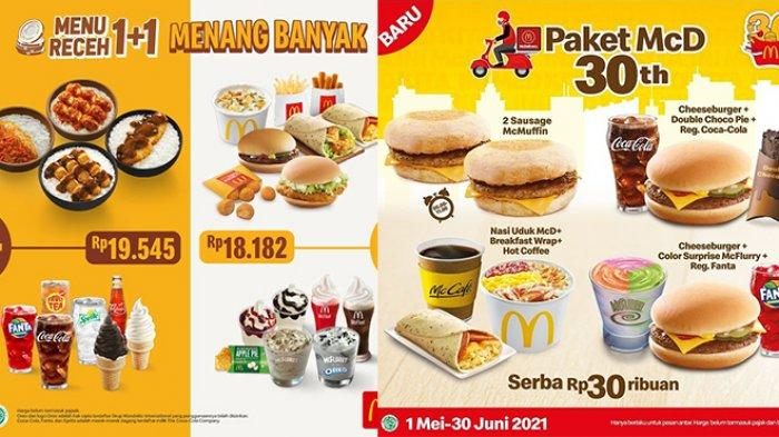 BARU! Promo McD hingga 30 Juni 2021, Nasi Uduk, Burger, McFlurry Rp 30 Ribuan, Beli 1+1 Rp 18 Ribuan