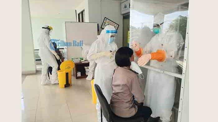 Cegah Penyebaran Covid-19, Ratusan Personel Polres Badung Dites Swab di RSD Mangusada