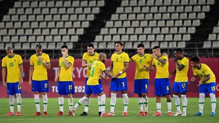 HASIL Semifinal Sepakbola Olimpiade Tokyo 2021: Brasil Lolos ke Final, Memang Adu Penalti Vs Meksiko