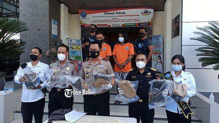 Akan Diecer untuk Wisatawan, BNNK Badung Amankan Pengedar Narkoba Jaringan Medan dan 9 Kg Ganja