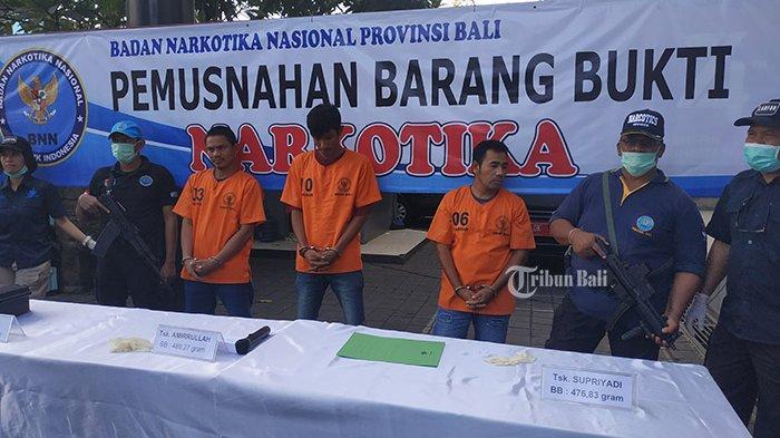 BNNP Bali Musnahkan 5 Kg Sabu BB Tiga Tersangka, Diduga Jaringan Aceh, Medan dan Bali
