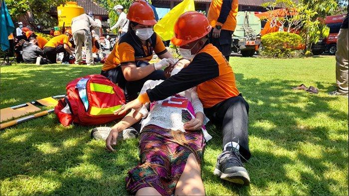 Bali Jadi Wilayah Rawan Gempa dan Tsunami, BPBD Gelar Simulasi Penanggulangan Bencana