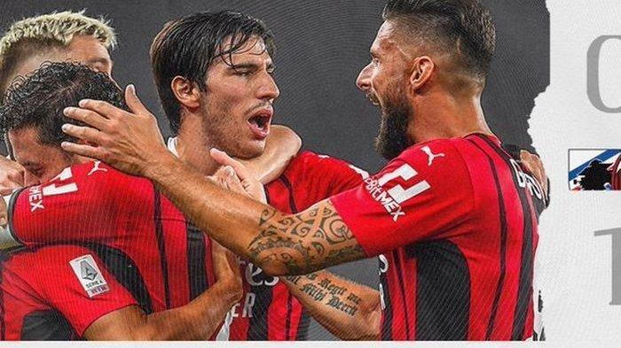Hasil AC Milan Vs Sampdoria: Rossoneri Tak Terkalahkan, Brahim Diaz Cetak Gol Tunggal