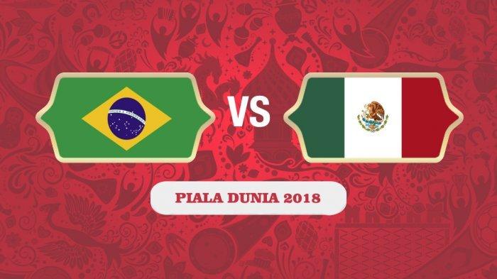 Head To Head Brasil vs Meksiko di 16 Besar Piala Dunia 2018 Live TransTV, Ini Prediksi Skornya