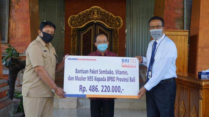 BRI Denpasar Peduli Corona, Salurkan Bantuan 10 Ton Beras, 2.630 Paket Sembako, Vitamin & Masker N95