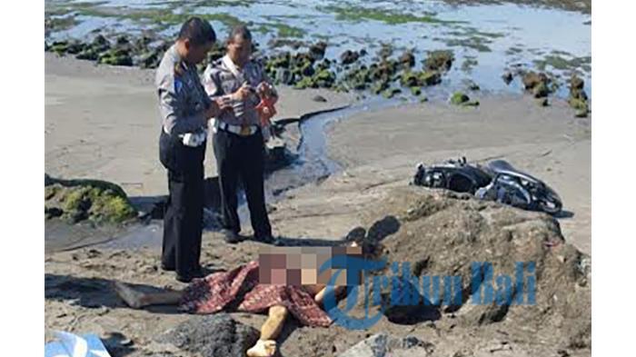 Tragis, Dua Bule Tewas Mengenaskan Terjun Bebas Naik Motor, Hantam Karang Pantai Pererenan