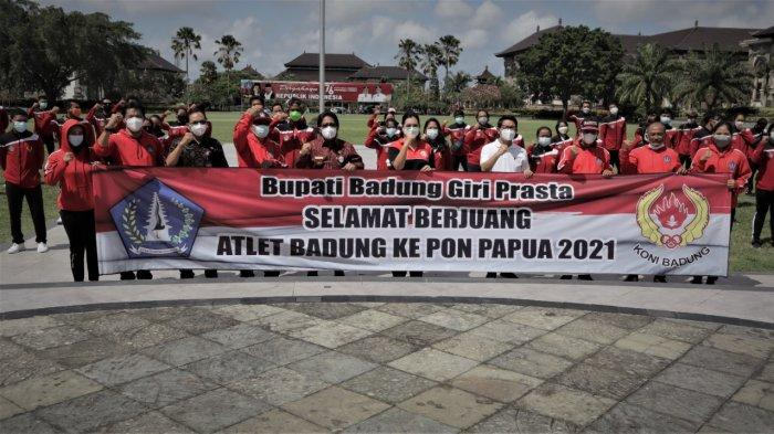 Bupati Giri Prasta Lepas Atlet Badung untuk Kontingen Bali ke PON XX 2021 Papua