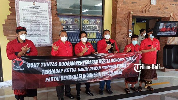 DPC PDI Perjuangan Badung Laporkan 12 Akun Penyebar Hoax Terkait Ketua Umum PDI Perjuangan