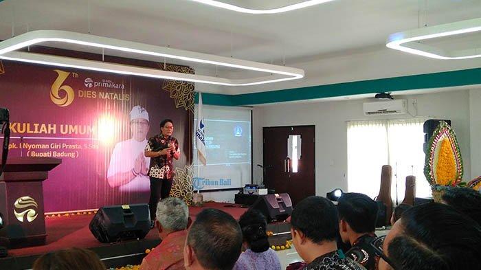 Isi Kuliah Umum di STMIK Primakara, Bupati Giri Prasta Sampaikan Konsep Smart City Pemkab Badung