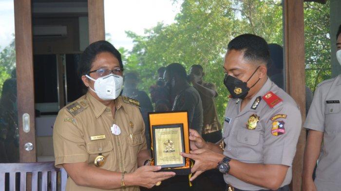 Terima Peserta Didik Sespimmen Polri, Bupati Giri Prasta Paparkan Penanganan Covid-19 di Badung