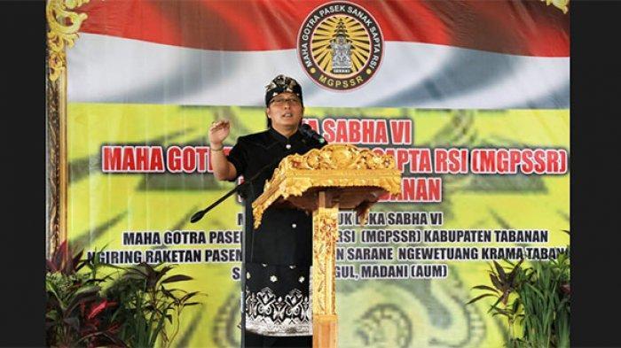 Bupati Giri Prasta Hadiri Lokasaba VI MGPSSR di Tabanan
