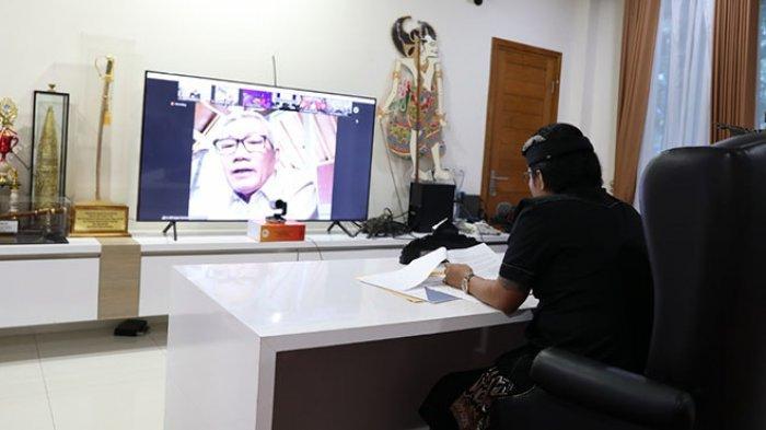 Bupati Giri Prasta Ikuti Rapat Dengar Pendapat Umum dengan Anggota Panitia Kerja Komisi XI DPR RI