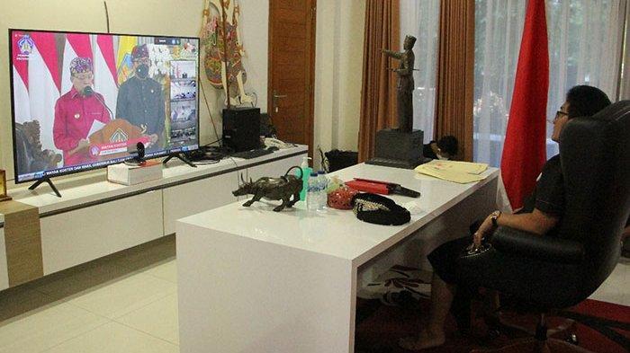 Bupati Giri Prasta Ikuti Peringatan 3 Tahun Kepemimpinan Gubernur dan Wakil Gubernur Bali