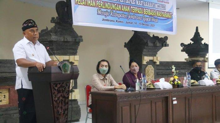 Bupati Jembrana Nengah Tamba Kampanyekan Stop Kekerasan Anak