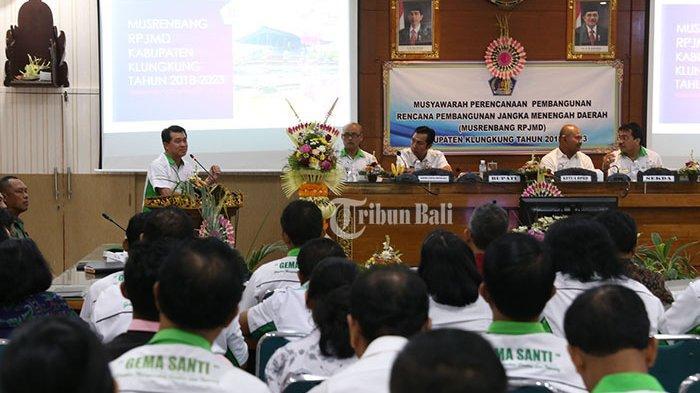 Bupati Suwirta Buka Musrenbang RPJMD Klungkung 2018-2023