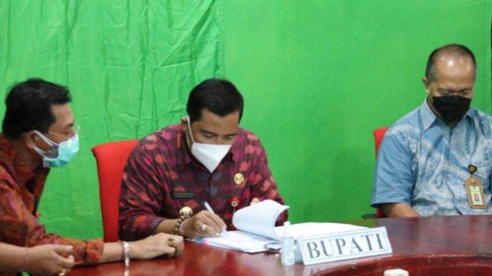 Bupati Sanjaya Teken Perjanjian Kerjasama,Harapkan Optimalisasi Pemungutan Pajak di Tabanan Terwujud