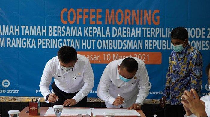 Bupati Tamba Tandatangani Komitmen Pelayanan Publik Bersama Ombudsman RI Perwakilan Bali