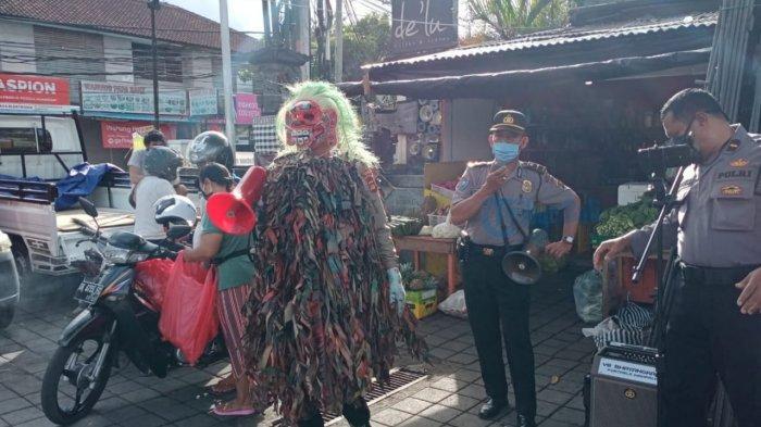 Berikan Imbauan, Celuluk Polres Badung Kembali Teror Pengunjung Pasar Petang
