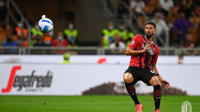 Cetak 2 Gol Bagi AC Milan di Liga Italia, Ini Komentar Oliver Giroud Soal Kutukan Nomor 9 Rossoneri, Senin 30 Agustus 2021.
