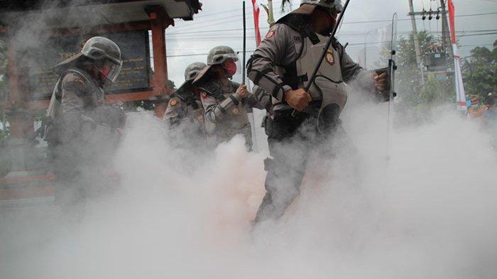 Dalmas Polres Badung Siap Atensi Pergerakan Massa Dalam Pilkada Serentak 2020