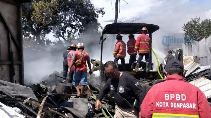 Kebakaran Bengkel di Denpasar Diduga Akibat Percikan Api dari Las, Total Kerugian Sekitar Rp 10 Juta