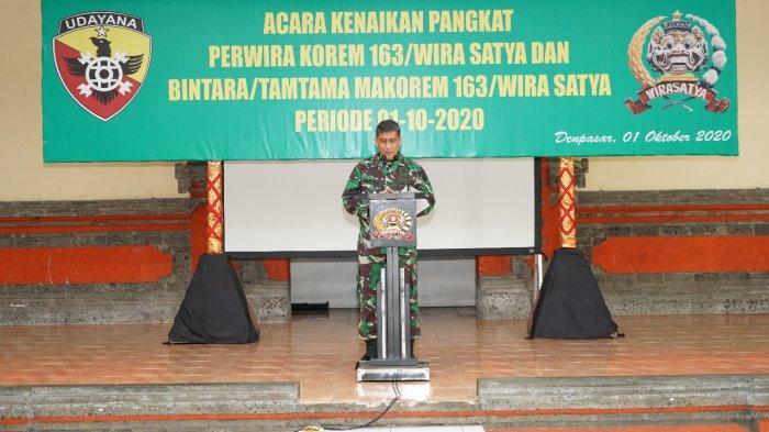 Danrem 163/Wira Satya Ajak Prajurit TNI Setop Like Dislike Paslon Kepala Daerah di Medsos
