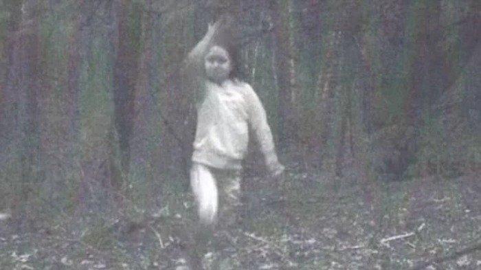 5 Penampakan Aneh Terekam Kamera Pemburu, Ada Gadis Misterius Bermain Sendirian di Hutan - Tribun Bali