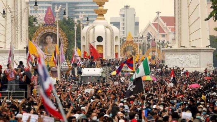 Aksi Demo Thailand Lagi Meski Polisi Bertindak Keras