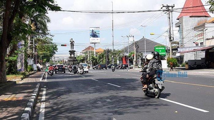 Jelang Hari Raya Galungan, Lalu Lintas Kota Denpasar Mulai Lengang
