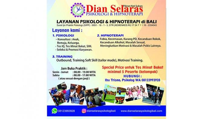 Kenali Bakat Anda, Raih Prestasi bersama Dian Selaras Psikologi & Klinik Hipnoterapi Denpasar