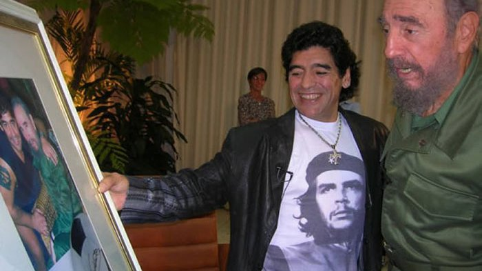 Diego Maradona dan mendiang pemimpin besar Kuba, Fidel Castro