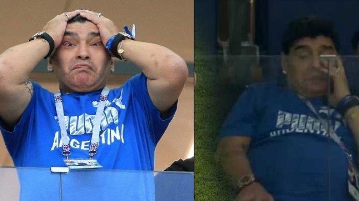 Dibantai Kroasia 3-0 Tanpa Ampun, Air Mata Legenda Argentina Maradona Pecah di Tribun Penonton