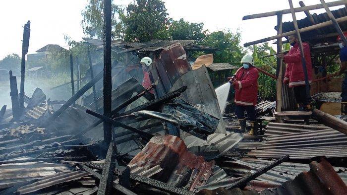 Diduga Sisa Pembakaran Obat Nyamuk, RumahBedeng di Kerobokan Badung Bali Terbakar