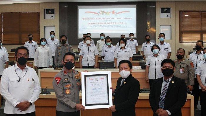 Polda Bali Raih Penghargaan Trust Award, Ditreskrimum Sandang Predikat WBK Se-Indonesia