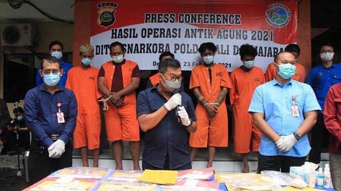 Tren Kasus Penyalahgunaan Narkoba di Bali Meningkat,Bulan Ini Polda Ungkap 64 Kasus dan 72 Tersangka