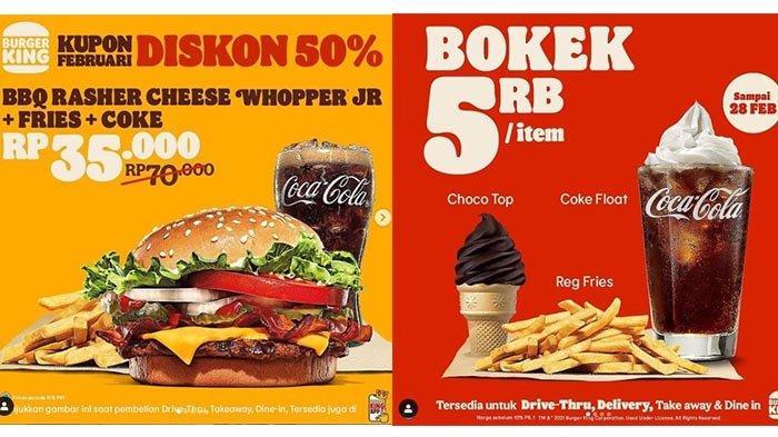 Diskon 50%, Promo Burger King Hari Ini 19 Februari 2020: Rp 35 Ribu Dapat Burger, Kentang, Minuman