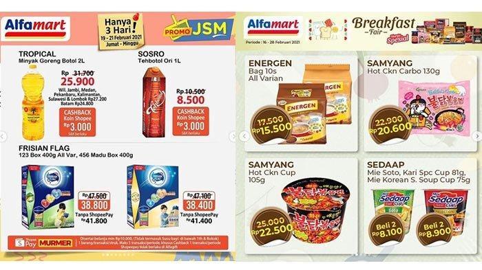 Katalog Promo JSM Alfamart Berakhir Besok 21 Februari 2021, Minyak Goreng 2L Rp 25 Ribuan