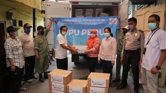Ditjen Hubud Berikan Bantuan Pada Masyarakat Terdampak Covid-19 Khususnya di Sekitar Wilayah Bandara