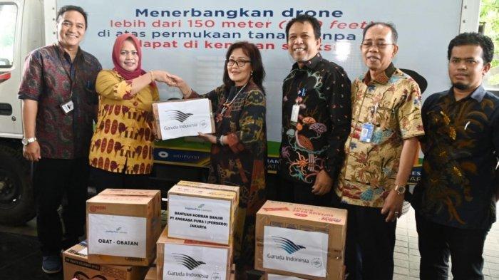 Kemenhub dan Stakeholder Penerbangan Salurkan Bantuan Untuk Korban Banjir