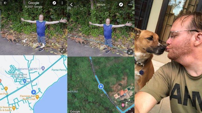 Dog Lover Ini Bahagia Bisa Masuk Google Map Saat Jalan Bareng Anabulnya di Bali
