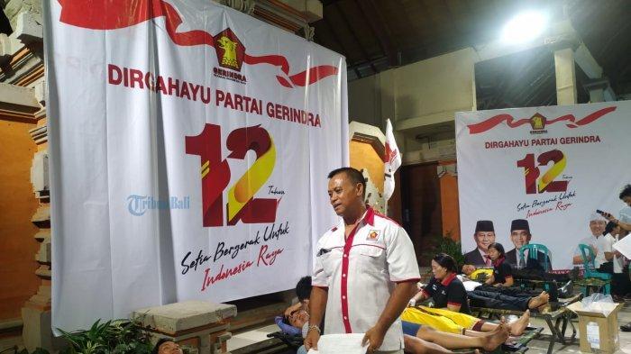 DPC Partai Gerindra Klungkung Gelar Donor Darah, Targetkan 300 Kantong Darah