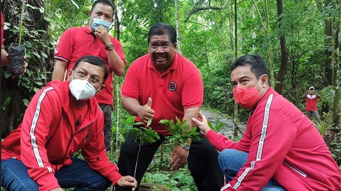 Peringati HUT ke-48, DPC PDIP Buleleng Tanam Ribuan Pohon di Desa Panji