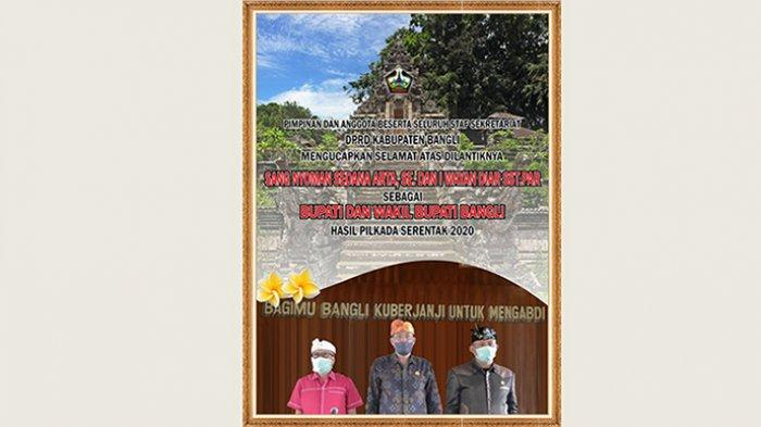 DPRD Kabupaten Bangli Mengucapkan Selamat Atas Dilantiknya Bupati dan Wakil Bupati Bangli